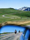 Traffic on Trail Ridge Road, Rocky Mountain National Park, Colorado Photographic Print by Holger Leue