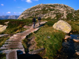 Hikers on Trail to Kjeragbolten Above Kysefjord, Lysefjord, Rogaland, Norway Photographic Print by Anders Blomqvist