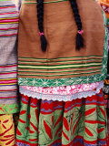 Detail of Woman's Clothing and Hair, Peru Photographic Print by Richard I'Anson