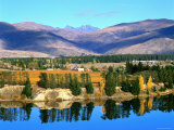 Bannockburn, Reflections in Lake Dunstan and Hector's Range, New Zealand Photographic Print by Ross Barnett