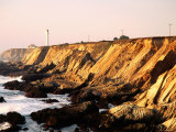 Historic Lighthouse on Coastal Cliffs, Point Arena, California Photographic Print by John Elk III