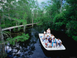 Boat Ride through the Swamp, Okefenokee Swamp Park, Georgia Photographic Print by John Elk III