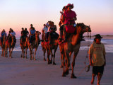 Camel Rides on Beach, Broome, Western Australia Photographic Print by Christopher Groenhout