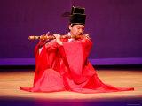 Musician Performing at Korea House, Myeong-Dong, Seoul, South Korea Fotografisk tryk af Anthony Plummer