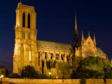 Cathedrale de Notre Dame de Paris at Night, Paris, Ile-De-France, France Photographic Print by Glenn Beanland