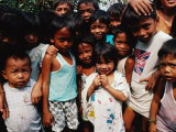 Children on the Valenzuala Dump, Quezon City, Southern Tagalog, Philippines Photographic Print by Richard I'Anson