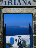 Iriana Cafe and Bar, Santorini, Greece Photographic Print by Glenn Beanland