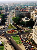 University Square and Ic Bratianu Blvd, Bucharest, Romania Photographic Print by Richard I'Anson