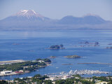 Town with Mt. Edgecumbe in Background, Sitka, Alaska Photographic Print by Brent Winebrenner