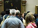 Visitors Viewing Artwork in the Musee du Louvre, Paris, Ile-De-France, France Photographic Print by Glenn Beanland