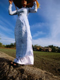 Ao Dai Is Graceful National Dress of Vietnamese Women, My Tho, Tien Giang, Vietnam Photographic Print by Stu Smucker