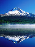 Trilium Lake with Mt. Hood in Background, Mt. Hood, Oregon Lámina fotográfica por John Elk III