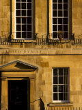 Georgian Townhouse on Alfred Street, Bath, Bath and North-East Somerset, England Photographic Print by Glenn Beanland