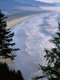 Manzanita Beach, Seen from Neahkahnie Mountain, Oregon Fotografisk tryk af John Elk III