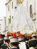 Procession of Virgen de Los Remedios, Peru Photographic Print by Brent Winebrenner