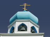 Tower of Russian Orthodox Church, Kodiak Island, Alaska Photographic Print by Brent Winebrenner