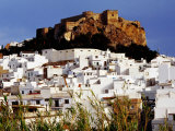 Moorish Castle Above Town on Costa Tropical, Almunecar, Andalucia, Spain Fotografie-Druck von Witold Skrypczak