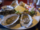 Plate Full of Oysters, Quay Cottage Seafood Restaurant, Westport, Ireland Photographic Print by Holger Leue