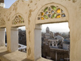 Old Town through Window, San'a, Yemen Photographic Print by Holger Leue