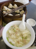 Wanton Soup and Basket of Dumplings at Nan Xiang Dumpling Restaurant, Shanghai, China Photographic Print by Greg Elms