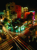Night Traffic on Le Thanh Ton Street, Ho Chi Minh City, Vietnam Photographic Print by Stu Smucker