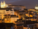 Overlooking Alfama from Largo Portas Do Sol, Lisbon, Portugal Photographic Print by Greg Elms