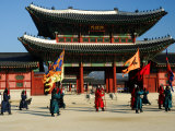 Gyeongbokgung Palace Changing of the Guard, Gwanghwamun, Seoul, South Korea Photographic Print by Anthony Plummer