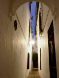 Narrow Cobbled Street with Archway, Old Town, Cordoba, Andalucia, Spain Photographic Print by John Banagan