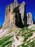 Passo Lavaredo, Dolomiti di Sesto Natural Park, Italy Fotografisk tryk af John Elk III