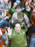 Figurine of Chairman Mao Surrounded by Accolytes, Dontai Road Antiques Market, Shanghai, China Photographic Print by Greg Elms