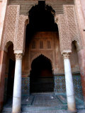 Columned Archway at Saadian Tombs, Marrakesh, Morocco Photographic Print by Doug McKinlay