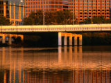 First Street Bridge over Town Lake in Austin, Austin, Texas Photographic Print by Richard Cummins