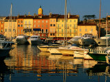 Harbour Boats and Waterfront Houses, St. Tropez, Provence-Alpes-Cote d&#39;Azur, France Photographic Print by David Tomlinson