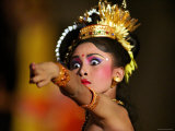 Balinese Woman Dancing at the Great Youth Gong Kebyar Compilation from Bangli and Gianyar Regency Photographic Print by Paul Kennedy