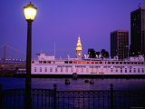 Ferry Building from Pier 5, Dusk, San Francisco, California Photographic Print by Thomas Winz