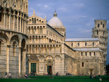 Cathedral and Leaning Tower Behind, Pisa, Tuscany, Italy Photographic Print by John Elk III