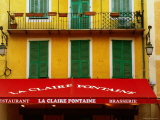 Restaurant Facade and Awning in Old Town, Nice, Provence-Alpes-Cote d'Azur, France Photographic Print by David Tomlinson