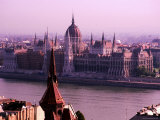 Parliament from Castle District, Budapest, Pest, Hungary Photographic Print by Roberto Gerometta