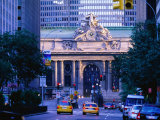 Street Outside Grand Central Station, New York City, New York Fotografie-Druck von Christopher Groenhout