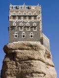 Rock Palace, Dar Al-Hajar, Wadi Dhahr, San'a, Yemen Photographic Print by Holger Leue