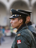 Policemen on Patrol in Plaza de Armas, Arequipa, Arequipa, Peru Photographic Print by Brent Winebrenner