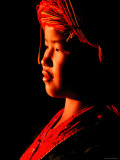 Atmospheric Portrait of Palaung Girl Wearing Headdress, Myanmar Photographic Print by Stu Smucker