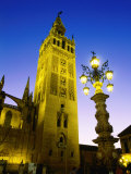 La Giralda Cathedral at Night, Sevilla, Andalucia, Spain Photographic Print by John Elk III