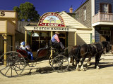 Horses Pulling Coach at Sovereign Hill, Ballarat, Victoria, Australia Photographic Print by David Wall