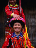 Ethnic Pa Then Women of Northern Vietnam, Ha Giang, Ha Giang, Vietnam Photographic Print by Stu Smucker