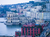 Buildings along Waterfront, Posilipo, Naples, Campania, Italy Photographic Print by Greg Elms