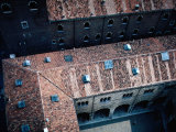 Looking Down on the Courtyards and Tiled Roofs on the Piazza Dei Signori in Verona, Veneto, Italy Photographic Print by Jeffrey Becom