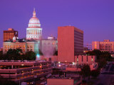 Sunrise and the Texas State Capitol Building in Austin, Austin, Texas Photographic Print by Richard Cummins