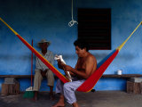 Locals Resting on the Porch in Chichicapa, Tabasco, Mexico Photographic Print by Jeffrey Becom