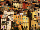 Colourful Houses Clustered on Hillside, Menton, Provence-Alpes-Cote d'Azur, France Photographic Print by David Tomlinson